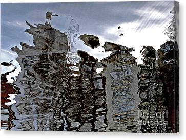 Canvas Print featuring the photograph Amsterdam Reflections 2 by Andy Prendy