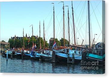 Amsterdam Sailing Ship - 06 Canvas Print by Gregory Dyer