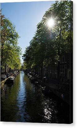 Amsterdam Spring - Green Sunny And Beautiful Canvas Print