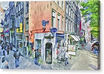 Amsterdam Streets 3 Canvas Print by Yury Malkov