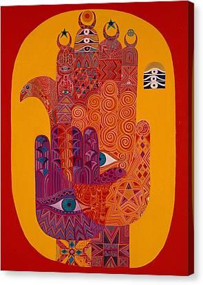 Amulets, 1992 Acrylic On Canvas Canvas Print by Laila Shawa