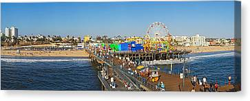 Amusements Canvas Print - Amusement Park, Santa Monica Pier by Panoramic Images