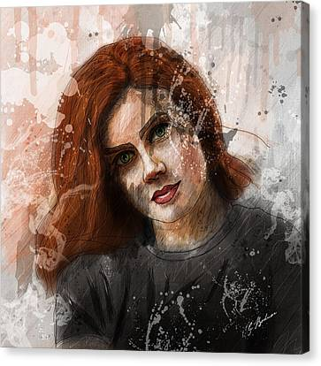 Amy Adams Canvas Print by Gary Bodnar