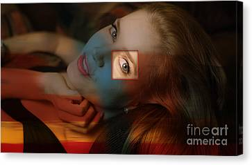 Amy Adams Canvas Print by Marvin Blaine
