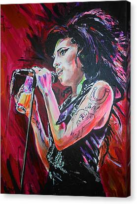Amy Canvas Print by Lucia Hoogervorst
