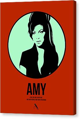 Amy Poster 1 Canvas Print by Naxart Studio
