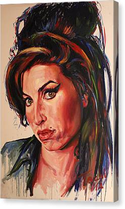 Amy Canvas Print by Tachi Pintor
