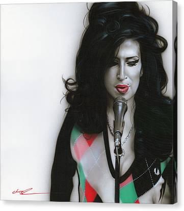 Amy Winehouse - ' Amy Vii ' Canvas Print