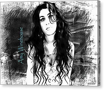 Amy Winehouse Canvas Print by Barbara Chichester