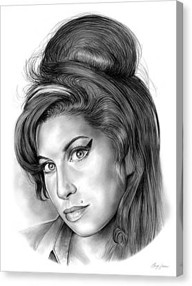 Icon Canvas Print - Amy Winehouse by Greg Joens