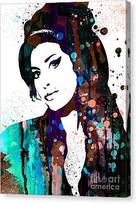 Amy Winehouse Canvas Print by Luke and Slavi