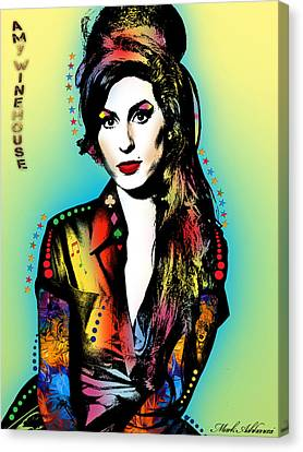 Amy Winehouse Canvas Print by Mark Ashkenazi
