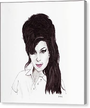 Amy Winehouse Canvas Print by Martin Howard