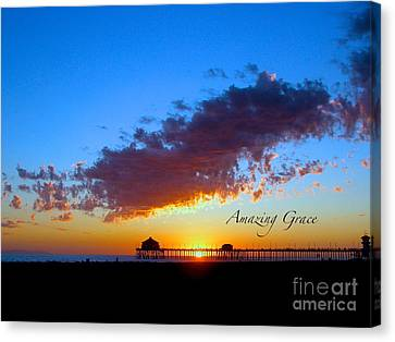 Canvas Print featuring the photograph Amzing Grace 7 by Margie Amberge