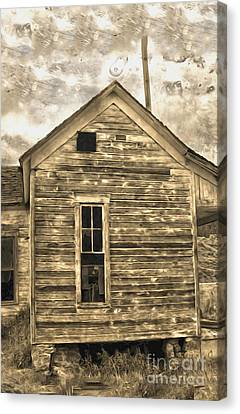 An Abandoned Old Shack Canvas Print by Gregory Dyer