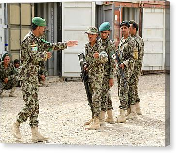 An Afghan National Army Instructor Canvas Print by Stocktrek Images
