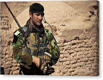 An Afghan National Army Special Forces Canvas Print by Stocktrek Images