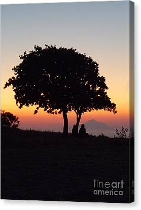 Canvas Print featuring the photograph An African Sunset by Vicki Spindler