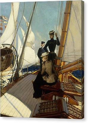 An Afternoon At Sea  Canvas Print by Albert Lynch