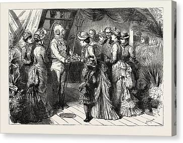 Hong Kong Canvas Print - An Afternoon Party On Board H.m.s by English School
