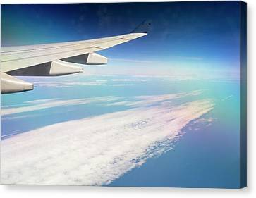 An Airplane Wing Canvas Print by Ashley Cooper