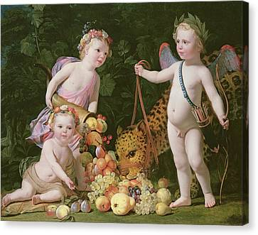 An Allegory Of Peace And Plenty Canvas Print