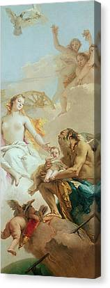 An Allegory With Venus And Time Canvas Print by Tiepolo