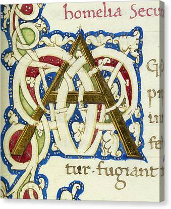 An Alphabet Initial Ornamental Letter Canvas Print by British Library