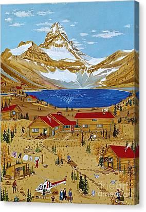 An Alpine Autumn Canvas Print by Virginia Ann Hemingson