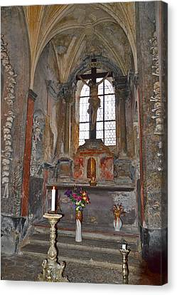 An Altar. A Burning Candle. Want To Throw A Coin? Canvas Print by Andy Za