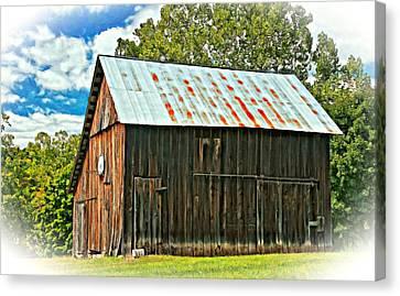 An American Barn 2 Oil Canvas Print by Steve Harrington