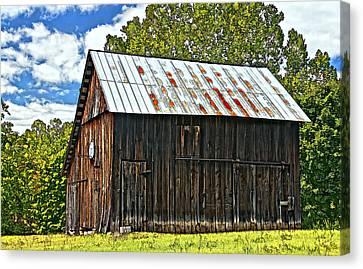 An American Barn 2 Painted Canvas Print by Steve Harrington