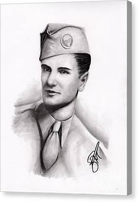 An American Hero Canvas Print by Rosalinda Markle