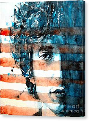 Bob Dylan Canvas Print - An American Icon by Paul Lovering
