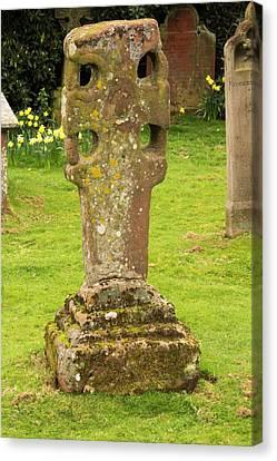 An Ancient Stone Cross Canvas Print
