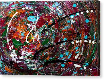An Angry Moment Canvas Print by Donna Blackhall
