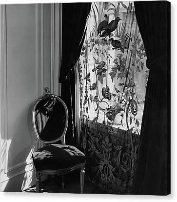 An Antique Chair By A Window Canvas Print by Cecil Beaton