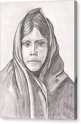 An Apache Daughter Canvas Print