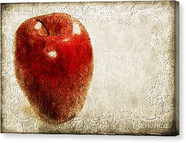 An Apple A Day Canvas Print by Andee Design