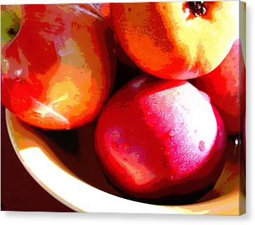 An Apple A Day Canvas Print by Ginny Schmidt