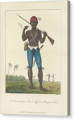 An Armed Negro Canvas Print by British Library