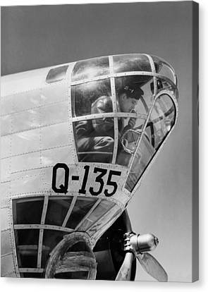 An Army Air Force Bombardier Canvas Print by Underwood Archives
