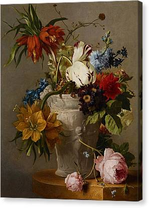 An Arrangement With Flowers Canvas Print