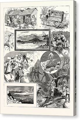 An Ascent Of Mount Wellington Tasmania 1. Mount Wellington Canvas Print