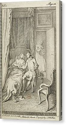 An Attempt At Seduction Canvas Print by British Library
