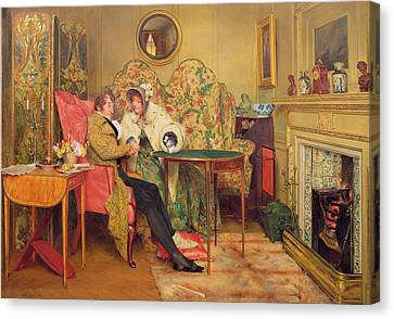 An Attentive Visitor Canvas Print by Walter Dendy Sadler