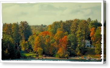 An Autumn Day On Lake George Canvas Print by David Patterson