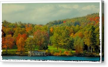 An Autumn Day On Lake George II Canvas Print by David Patterson