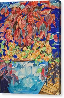 An Autumn Floral Canvas Print