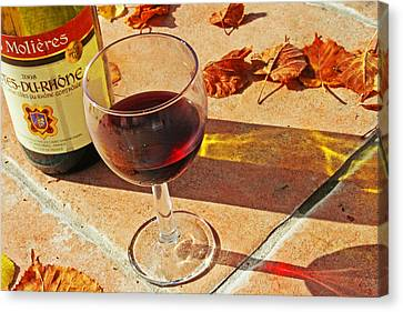 An Autumn Glass Of Red Canvas Print by Georgia Fowler